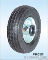 small pneumatic rubber wheel 5 inch