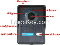 """7"""" Wired Night Visual Color Video Door phone Control System for apartm"""