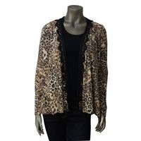 JUNIOR ANIMAL PRINTED CARDIGAN TOP