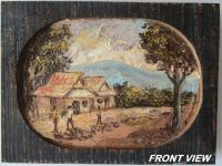 BEAUTIFULLY HAND PAINTED HIGHLAND SCENERY ON WOOD
