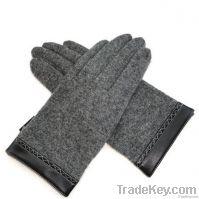 men's dark heather grey glove with pimp