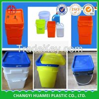 injection plastic round and square bucket pail drum barrel