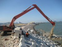 excavator long boom and stick