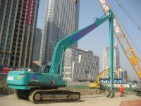 excavator long boom and arm