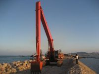 excavator long reach boom and stick