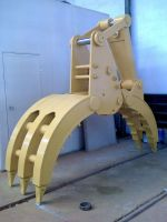 excavator rock grapple
