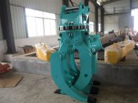 excavator wood grapple