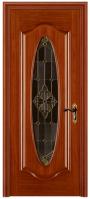 solid interior wood door with glass