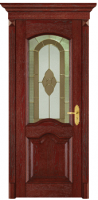 wood composite door with glass