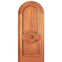 Mahogany Door   Single Door with Hand Carved Panels