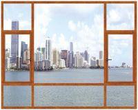 High Performance Good Quality Aluminum Alloy Window And Door Thermally Broken Thermal Break Aluminum Window manufacture