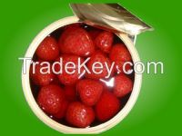 canned strawberries in light syrup