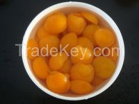 Canned apricot halves with good quality
