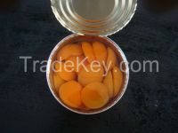 2015 New crop canned apricot halves 820g