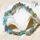 2014 Fashion Colorful Lampworkglass Stretch bracelet