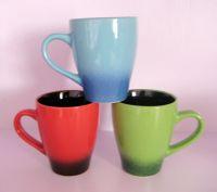 Color glazed ceramic mugs, porcelain daily use tea& coffee set