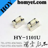 China Manufacturer Vertical SMT Tact Switch with Black Warped Feet (HY-1101U, 6*3.5*5)