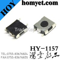 China Manufacturer Tactile Switch Tact Switch with 6.2*6.2*3.1mm 5pin Round Button (SMD)