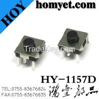 China Manufacturer Wholesales 6.2*6.2mm Tact Switch with 5pin Feet (HY-1157D)