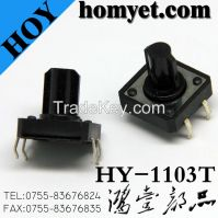 High Quality Tact Switch with 12*12*7.3mm Four Pin DIP (HY-1103T)