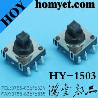 High Quality 10*10*10mm Tact Switch with DIP Type Square Button 6pin (HY-1503)