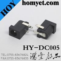 2.0mm Right Angle 3pin DIP Type DC Power Jack for Laptop (DC-005)