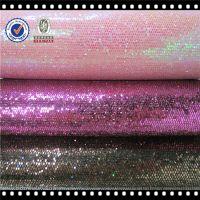 2014 New Style PU Glitter Mesh Leather