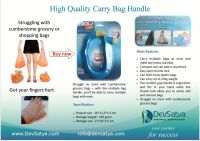 Quick Carry Bag Handle, Holds Many Grocery Plastic Bags