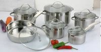 12pcs straight shape stainless steel cookware set