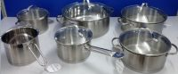 High quality  cookware set in 304 stainless steel