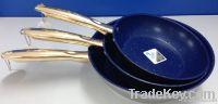 3 pcs stainless steel fry pan , baking pan