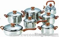 14pcs stainless steel cookware set /kitchenware