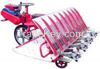 6 rows riding type high speed paddy rice transplanter in seeder