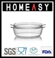 Clear High Borosicilate Pyrex Glass Casserole