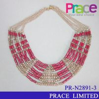fashion new design seed beads necklace for ladies