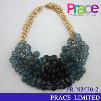 fashion new design resin beaded necklace for ladies