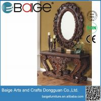 Good quality antique hand carved wooden console table