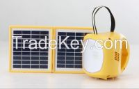 Solar portable ourtdoor lantern and used for camping LED light