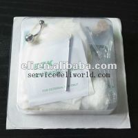 Disposable body piercing needles tools kit bag