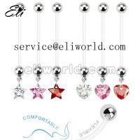 Bioflex Dangling Gem Pregnancy Belly Ring