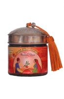 Traditional black soap with argan oil