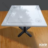 Kingkonree 70x70cm solid surface dining table designs