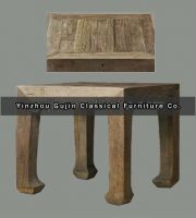 Vintage Reclaimed Wood Furniture End Table
