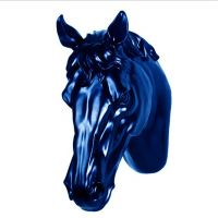 Polyresin 3D horse head wall decoration