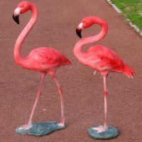 Polyresin casting flamingo statue for garden decoration