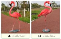 Polyresin casting flamingo statue for garden decoration