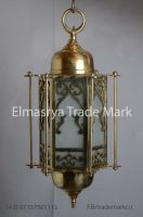 Handmade arabic Style Brass Lantern with White Colored Glass - Chandelier Lighting - # CH-107