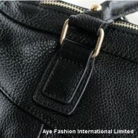 Fashion women full grain genuine leather handbag satchel