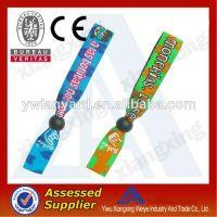 hot sale cheap customized fabric wristbands china wholesale