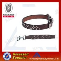 hot sale leather western dog collar in china market